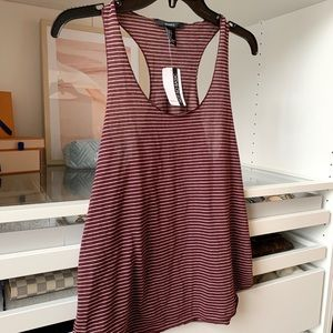 Maroon Striped Racerback Tank - Brand New with Tag